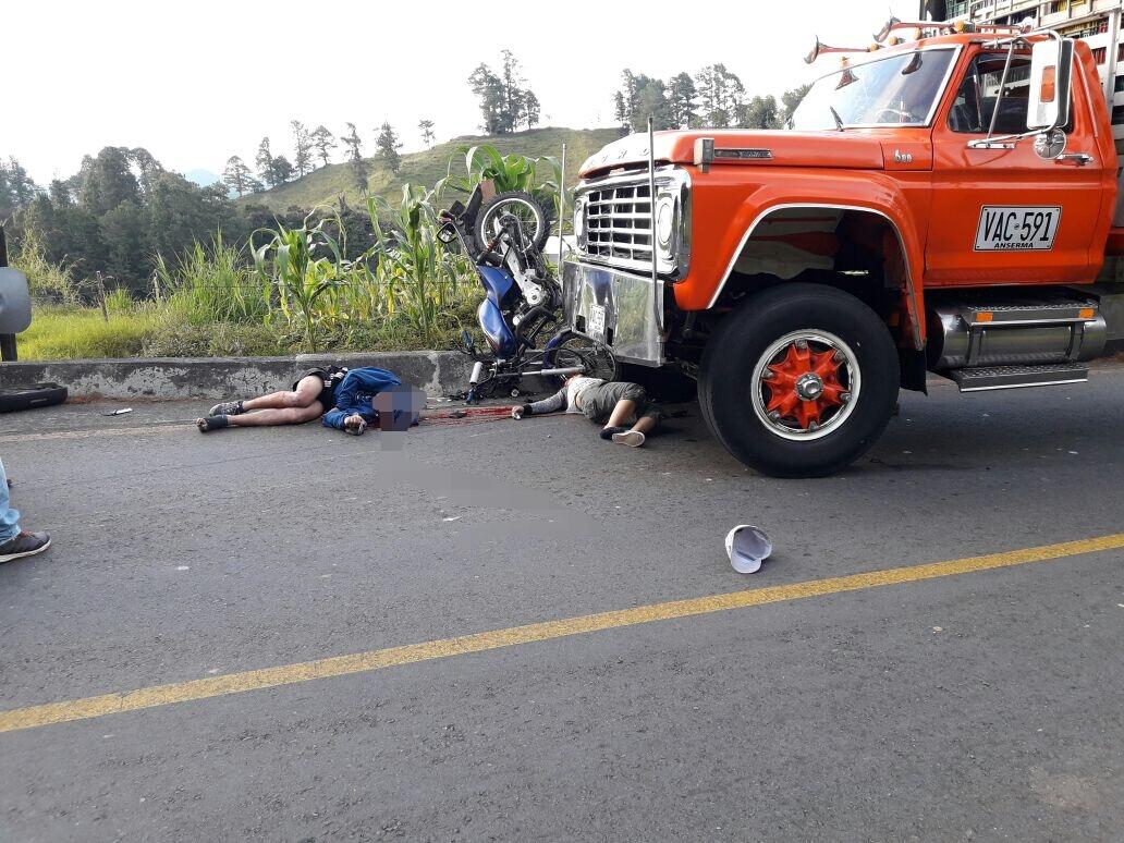 Dos muertos en accidente de tránsito en la vía La Unión – Sonsón