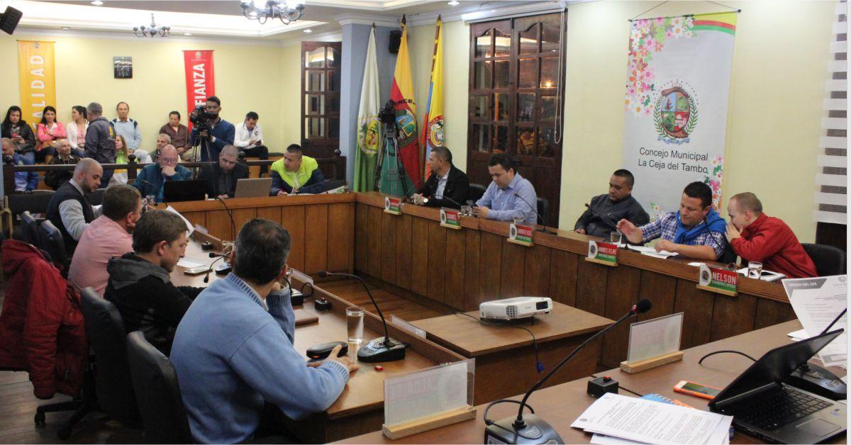 Concejo Municipal de La Ceja a sesiones extras