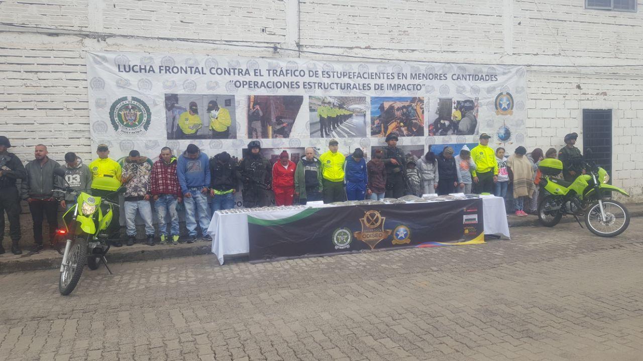 Operativo contra el microtráfico deja 31 capturados
