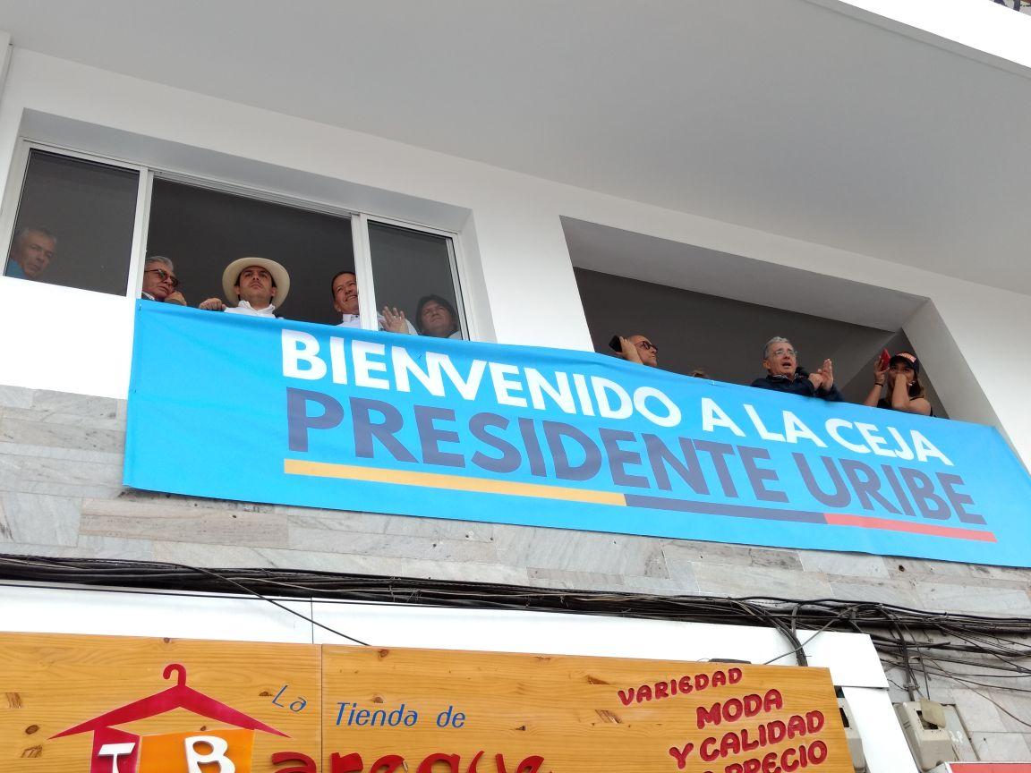Uribe presentó a su candidatos al Congreso en La Ceja