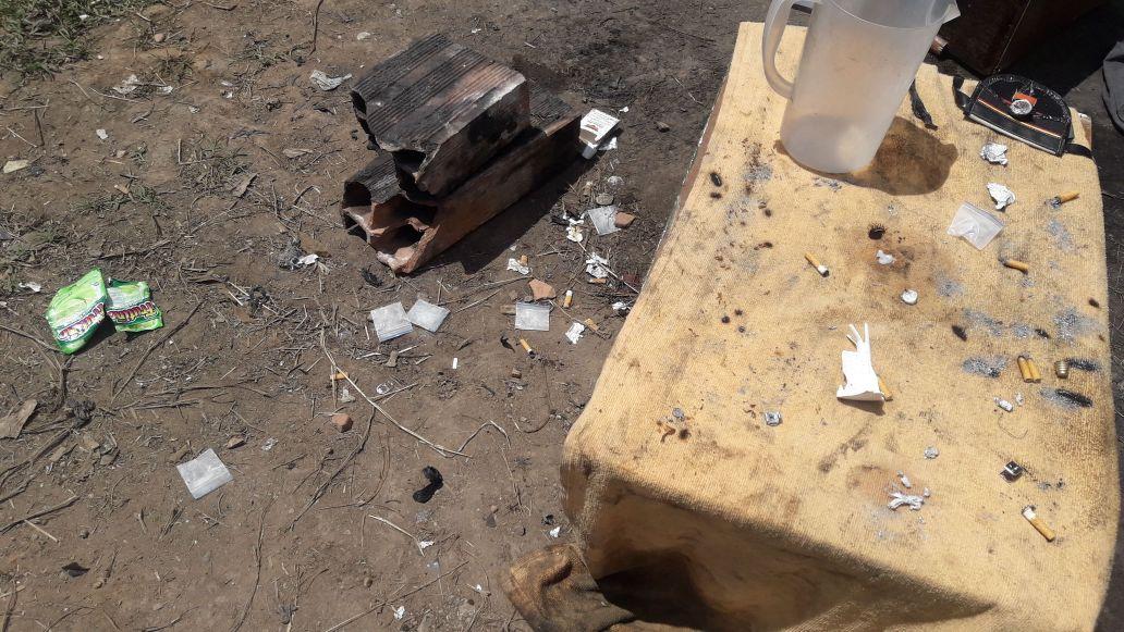Destruyen dos cambuches donde se cometían actos delictivos
