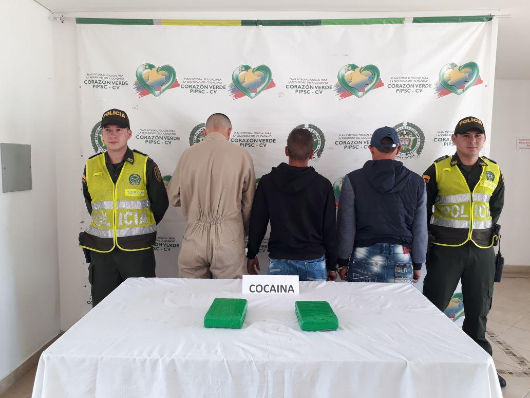 Capturados tres integrantes del Ejército con más de dos kilos de cocaína en La Ceja