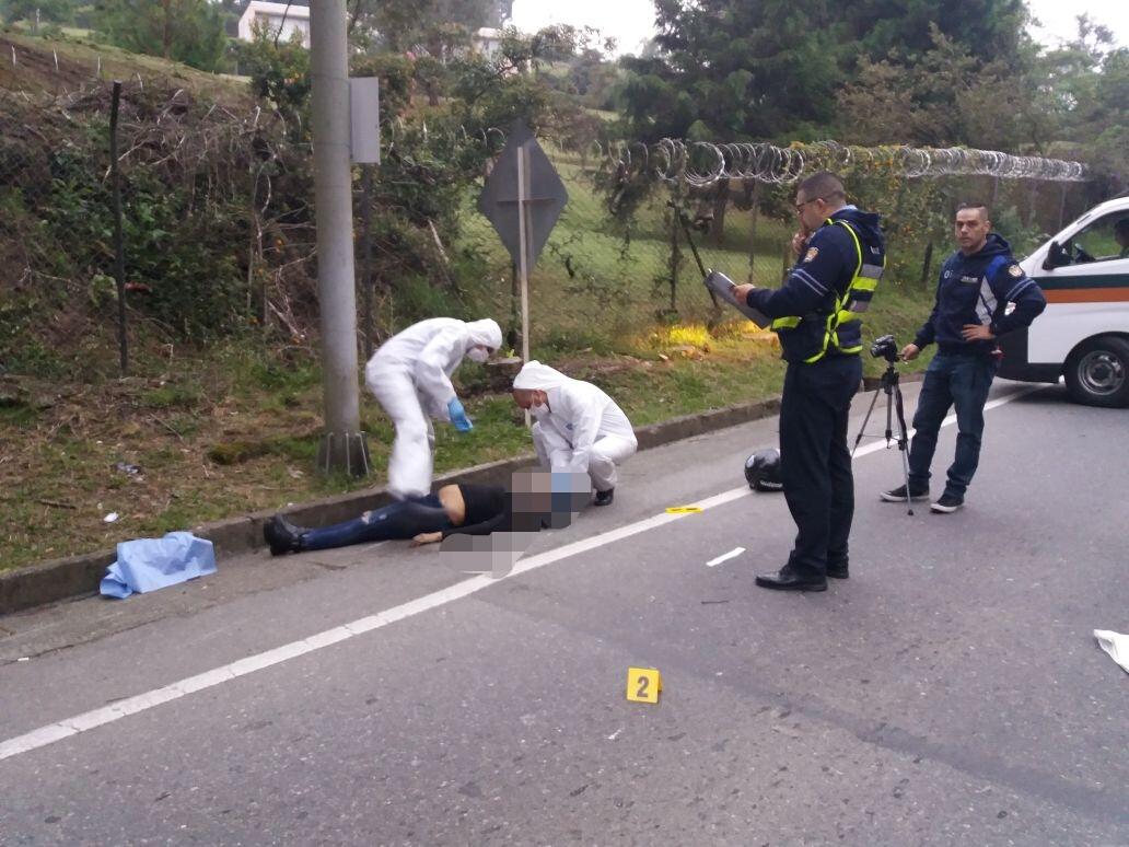 Fatal accidente se presentó esta tarde en la vía Las Palmas