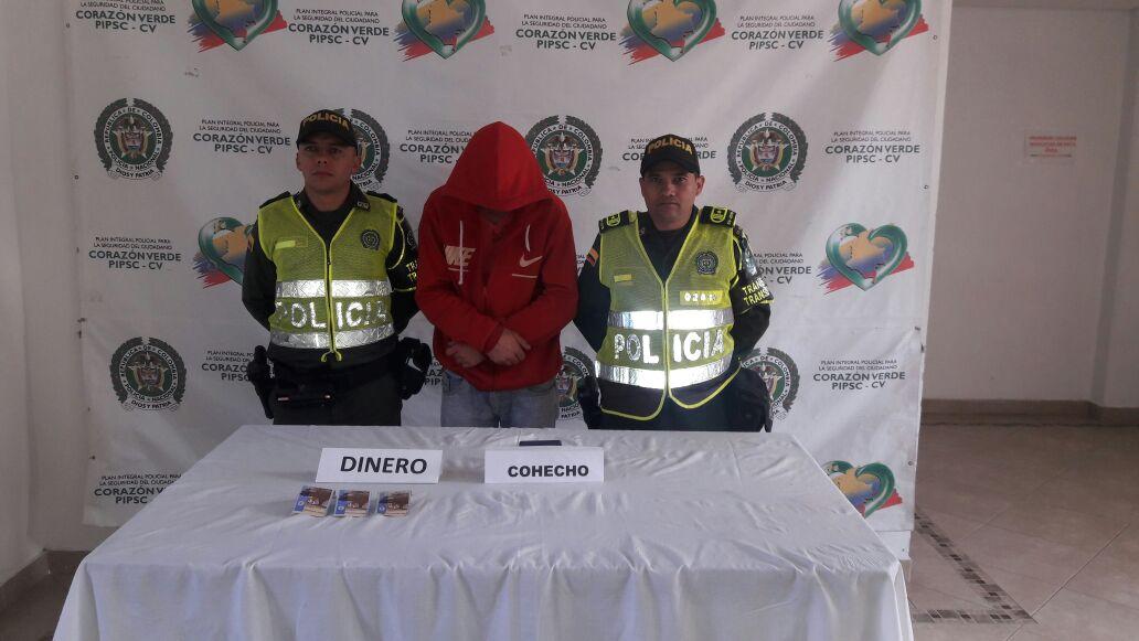 Ofreció cien mil pesos a un Policía y fue capturado por cohecho