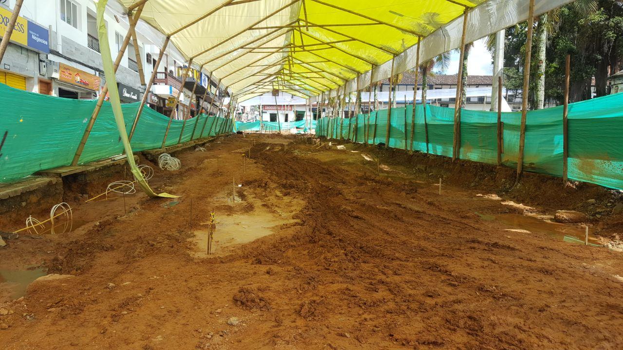 Obras del Parque Principal de La Ceja avanzan en un 20%