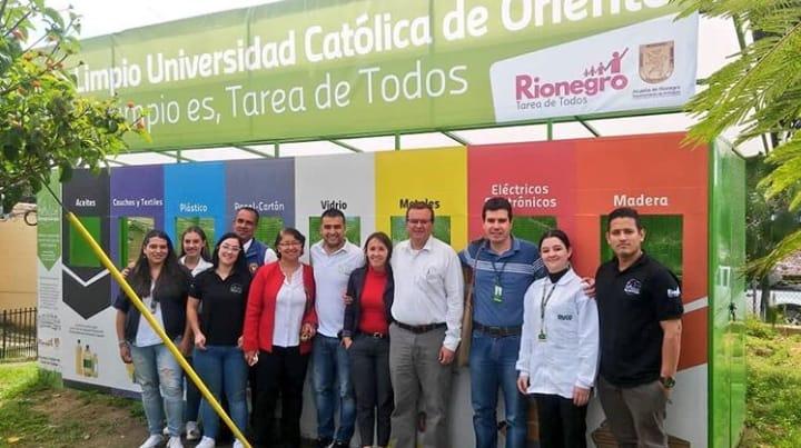 Instalan contenedores de reciclaje en Rionegro
