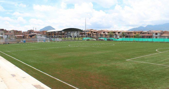 En 70 % han avanzado obras de la Unidad Deportiva María Auxiliadora, en La Ceja