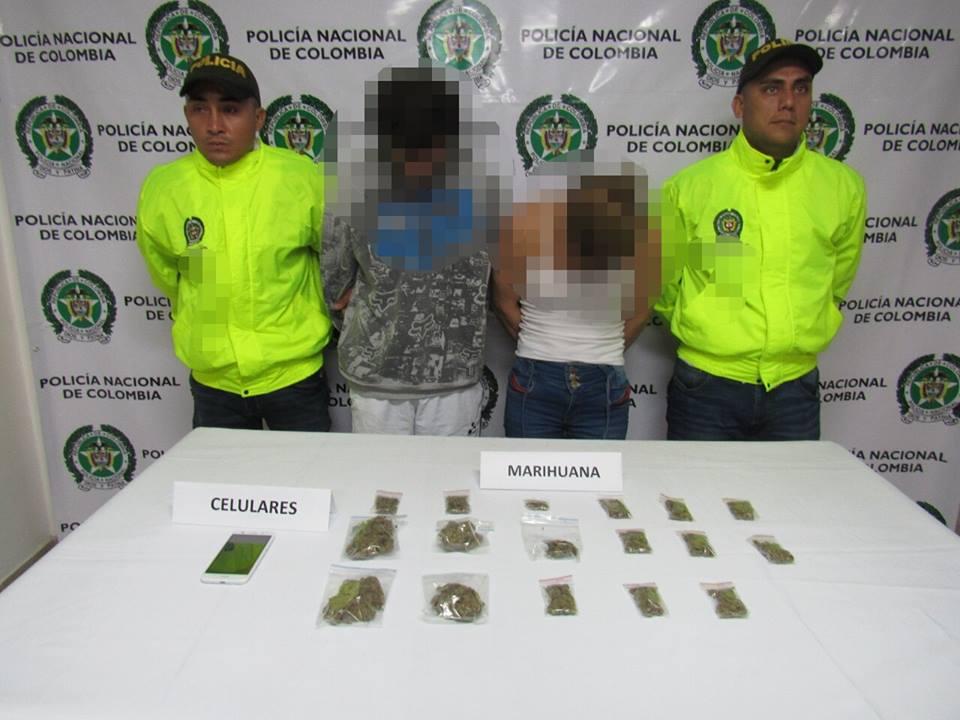 Dos personas fueron capturadas en Villa Lorca por estupefacientes.