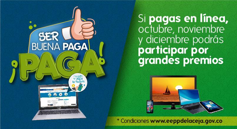 Lanzan concurso para quienes paguen la factura de EE.PP La Ceja por internet