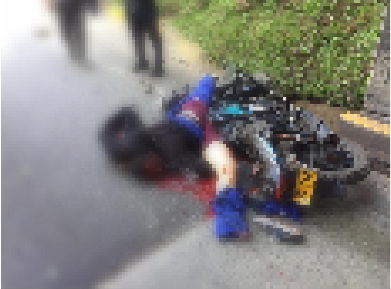 Un motociclista falleció en accidente de tránsito en el Túnel de Guarne
