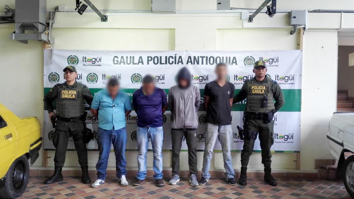 Capturan a integrantes de bandas que extorsionaban a floricultores de La Ceja