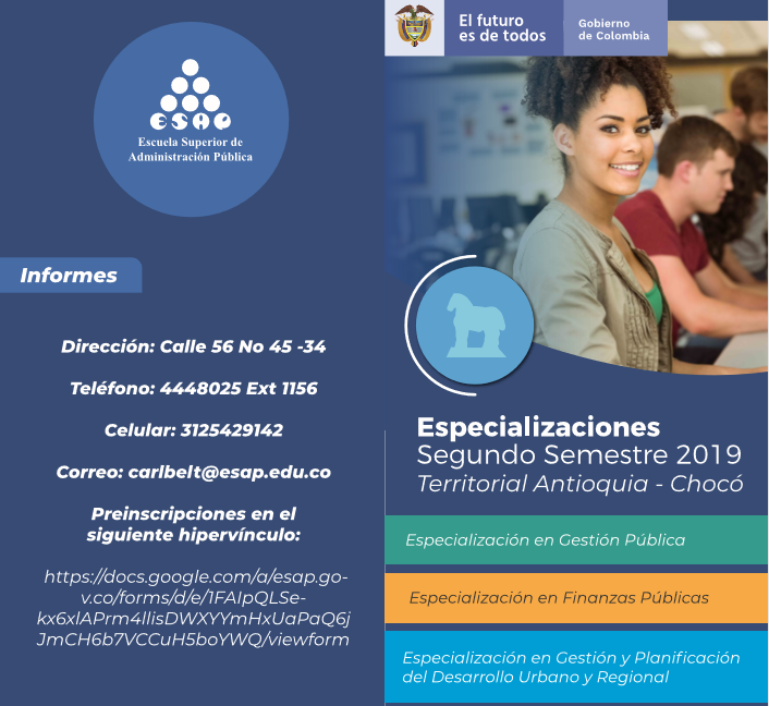 Convenio entre alcaldía de La Ceja y la Escuela Superior de Administración Pública.