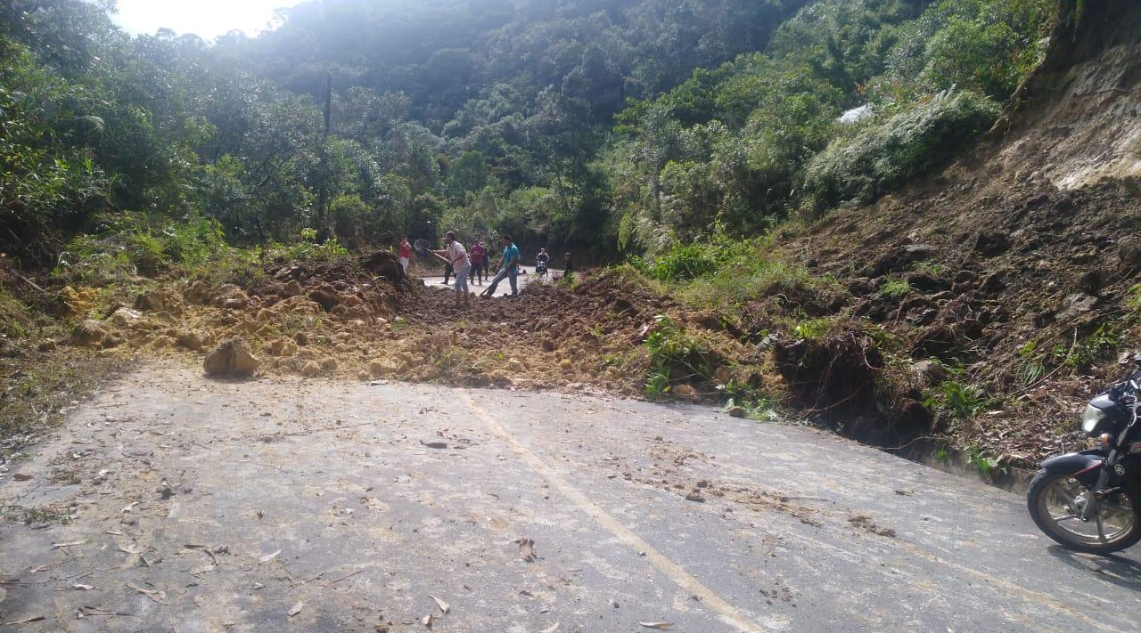Incomunicada la vía que conecta a Sonsón con el municipio de Nariño