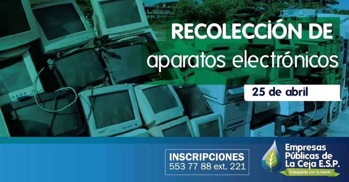 Se realizará en La Ceja recolección de aparatos electrónicos