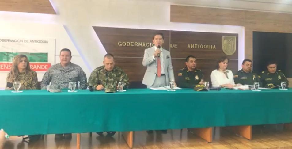 Gobernador propuso militarizar las cárceles de Antioquia