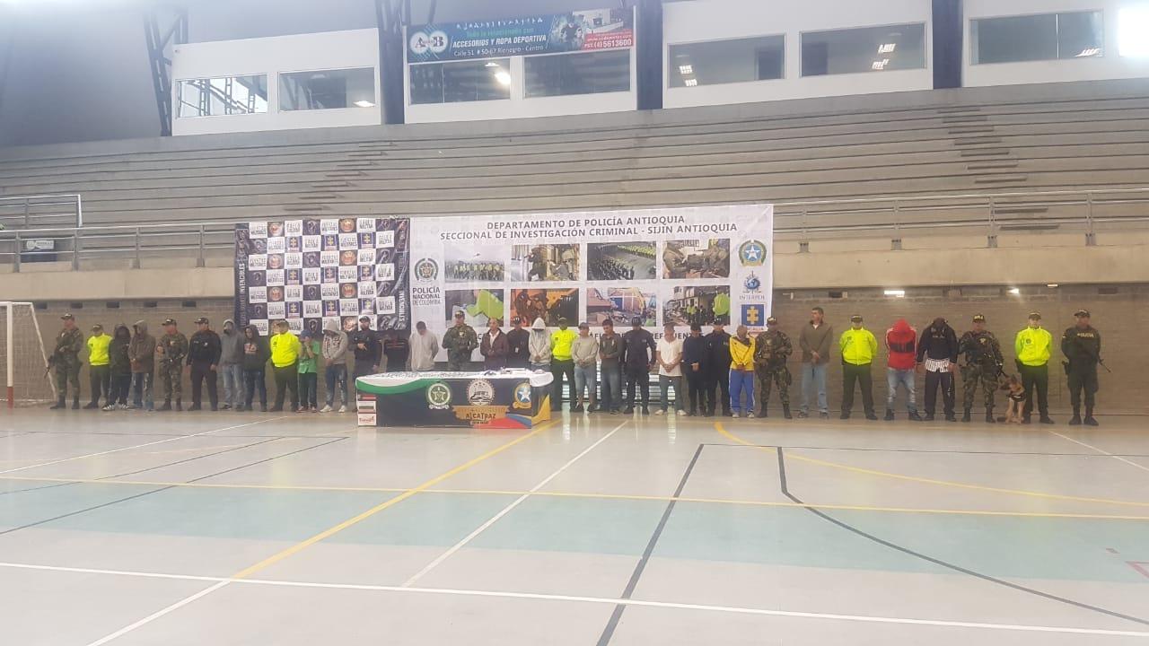 23 capturados en Rionegro, entre ellos tres menores de edad