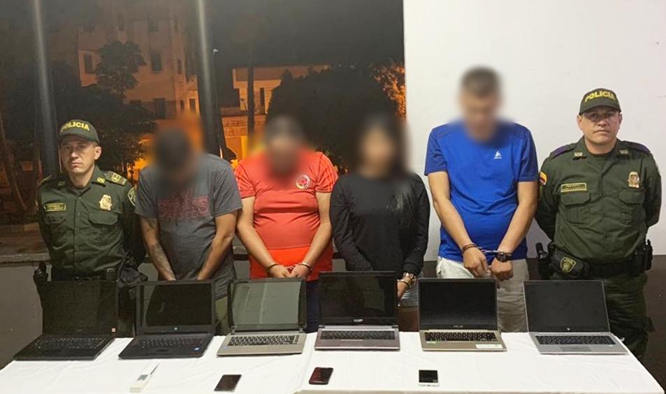Capturan presuntos integrantes de banda dedicada al hurto de computadores