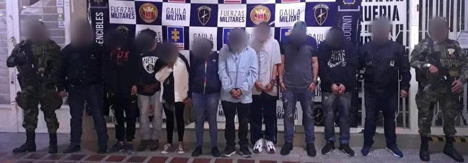 Allanamiento deja ocho capturas en El Carmen de Viboral