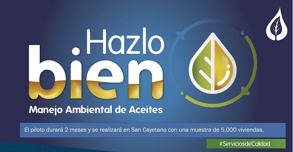 Empresas Públicas de La Ceja inicia manejo ambiental de aceites de cocina