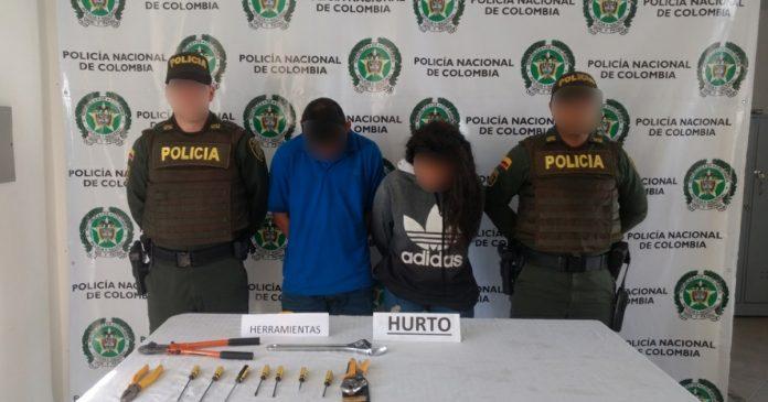 Fueron capturados en La Ceja, ladrones que intentaban ingresar a una vivienda