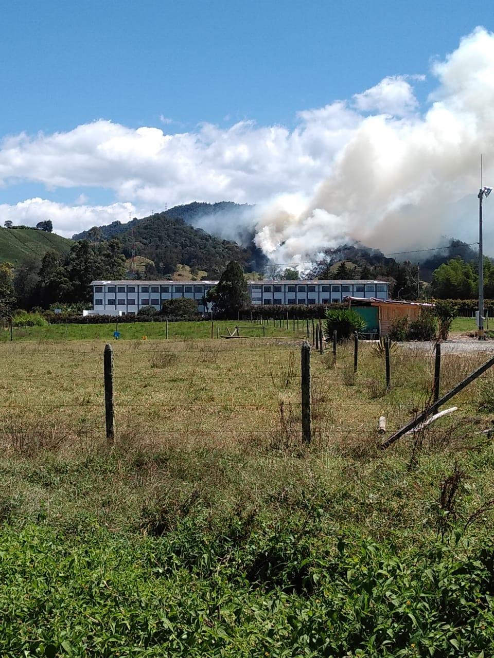 Se controla incendio forestal en La Ceja