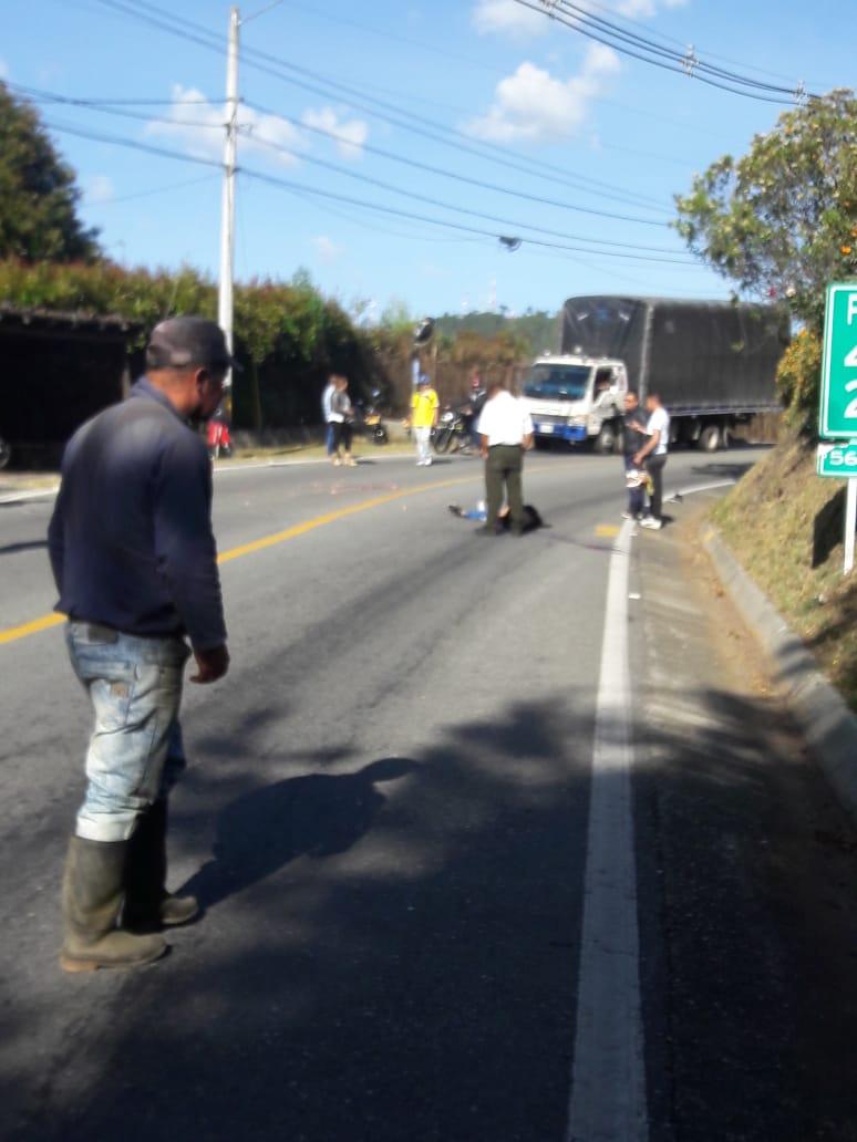 Otro ciclista pierde la vida en La Ceja