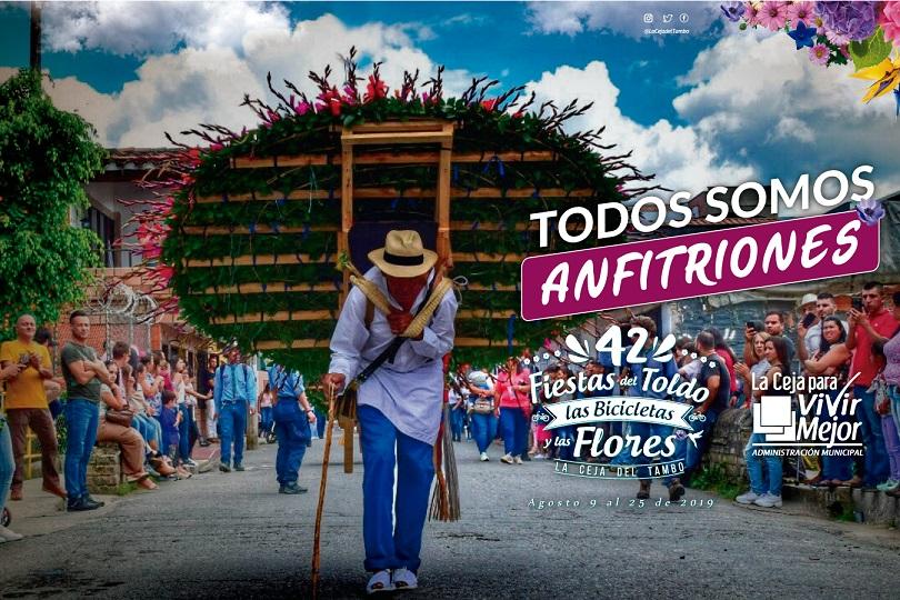 Desde hoy empiezan las Fiestas del Toldo, Las Bicicletas y Las Flores en La Ceja