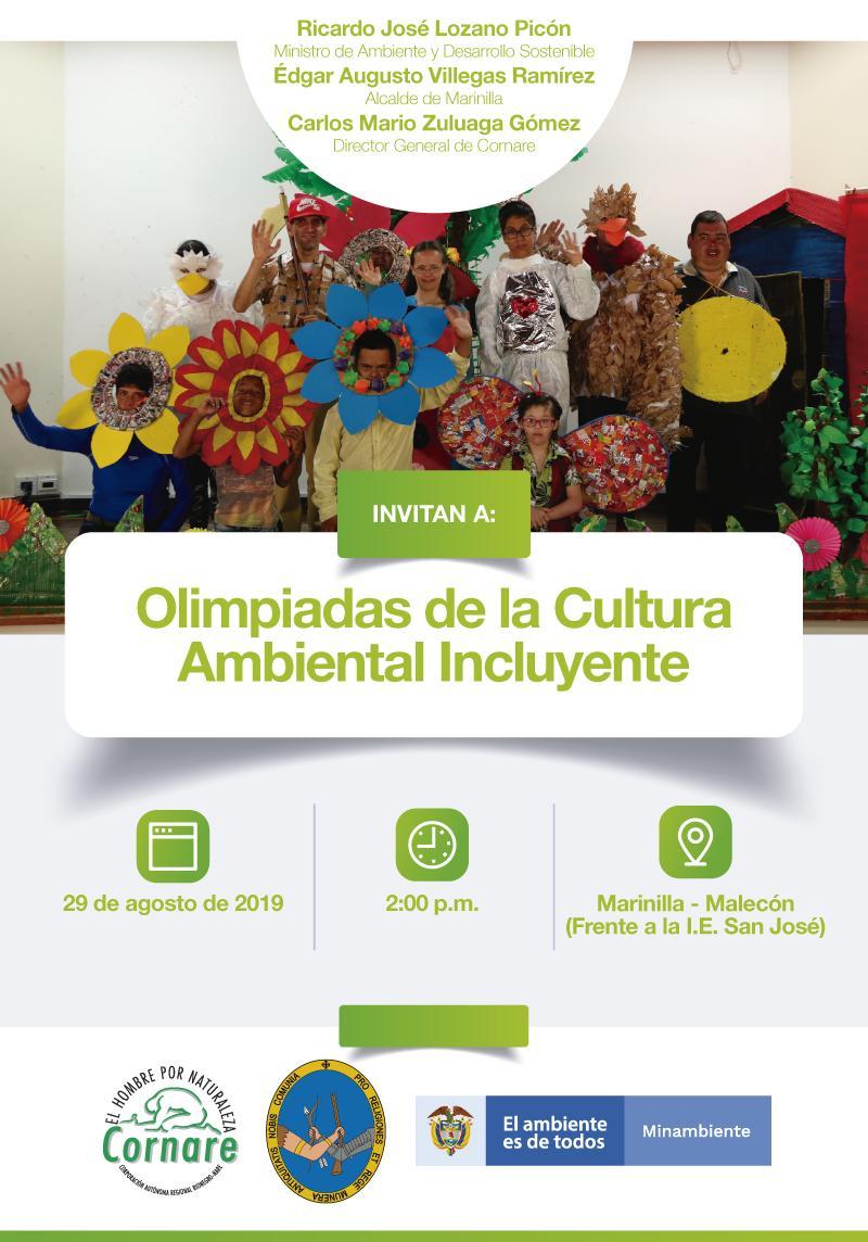Cornare realizará Olimpiadas de la Cultura Ambiental Incluyente