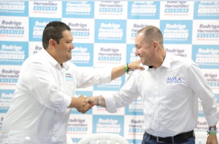 Partido político MIRA se adhirió a campaña de Rodrigo Hernández