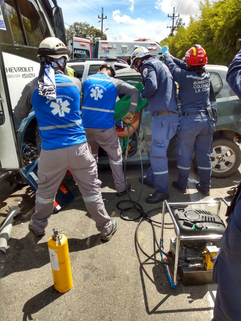 Presidente de Asocomunal de La Ceja resultó herido en accidente de tránsito