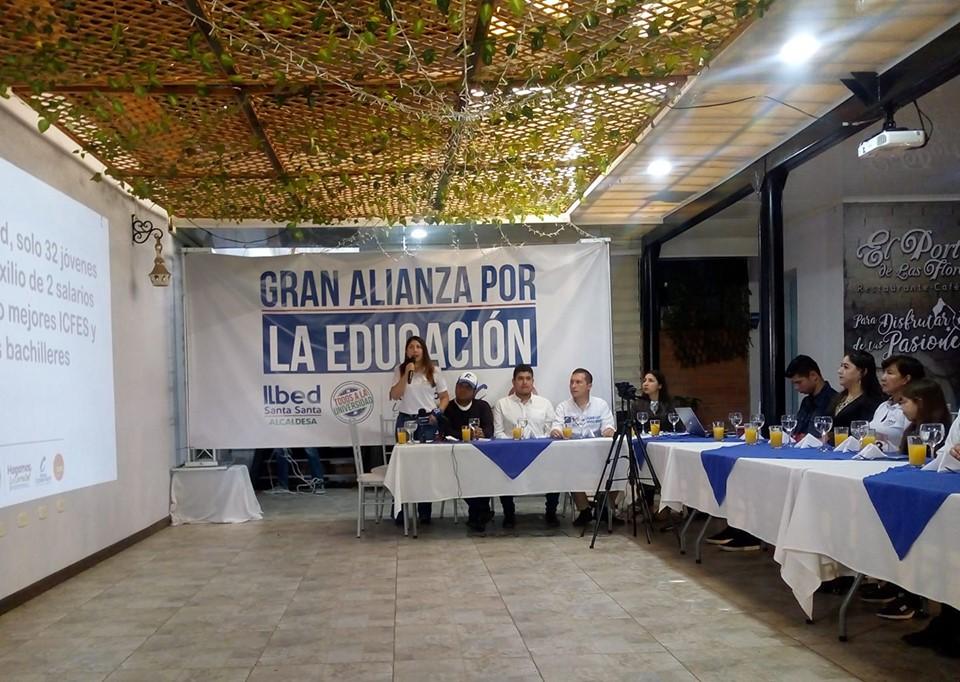 Ilbed Santa propone invertir mil millones de pesos anuales para la educación superior