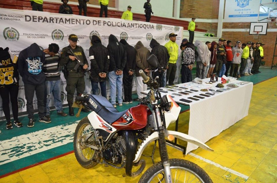 38 capturados en operativo en Guarne