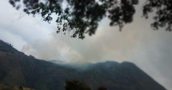 Reportan incendio en la vereda La Peña en Abejorral
