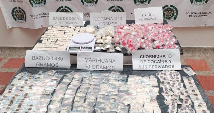 Una caja con más de 2 kilos de estupefacientes fue hallada en zona rural de La Unión