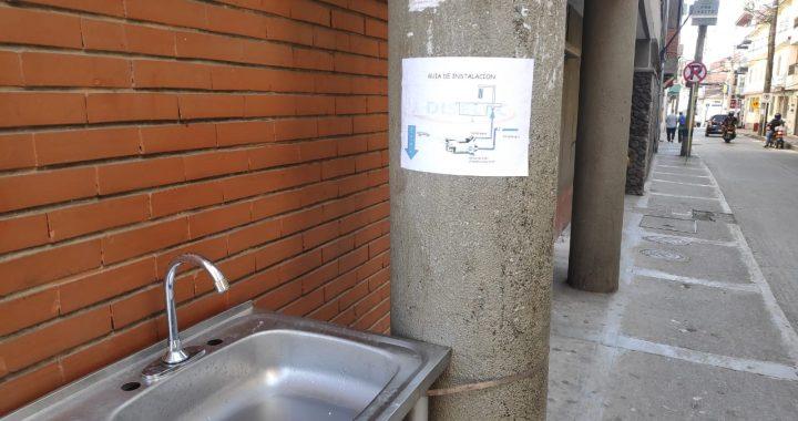 En El Santuario instalaron 4 puntos de higiene como medida de prevención de contagio
