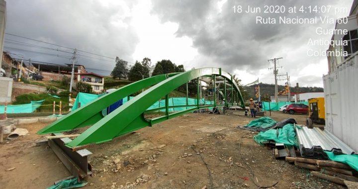 Autopista Medellín-Bogotáse cerrará durante 5 horas por instalación de puente peatonal