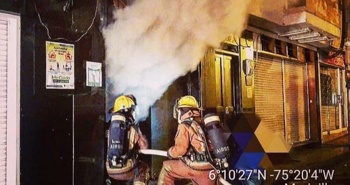 70 millones en pérdidas tras incendio en almacén de calzado en Marinilla