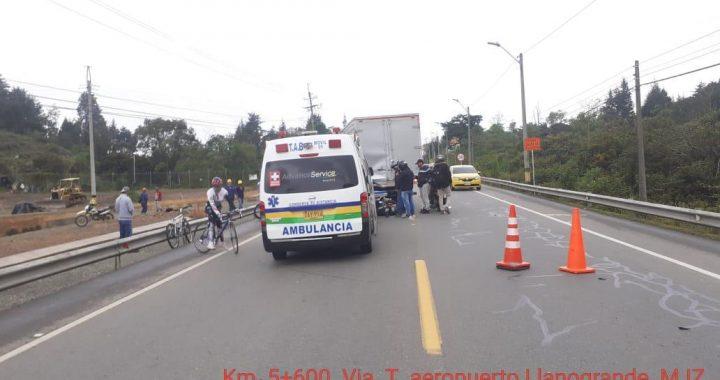 Dos muertos deja accidente en la vía Guarne- Aeropuerto