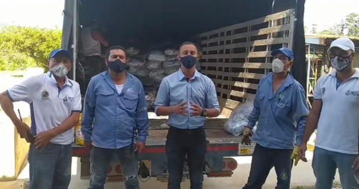 Casi 10 toneladas de detergente gestionó el concejal cejeño Carlos Mejía