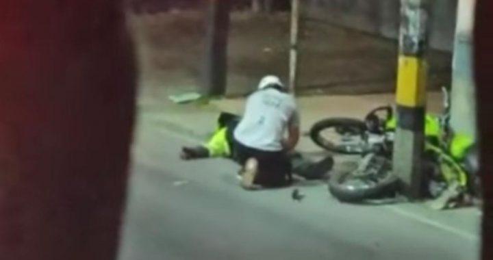 Un policía herido y una persona capturada tras persecución esta madrugada en Rionegro