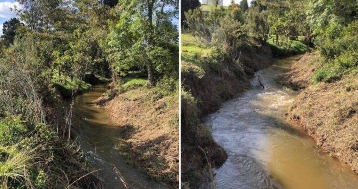 Comenzó la recuperación y mantenimiento de las quebradas de Rionegro