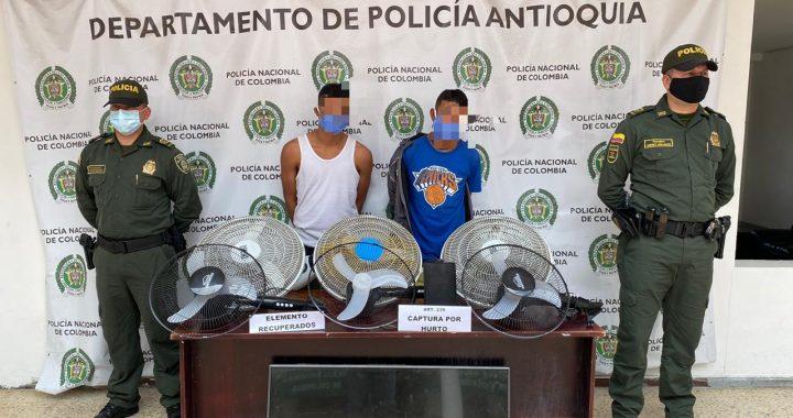 Sorprendidos dos venezolanos que pretendían robar en una institución educativa de Marinilla