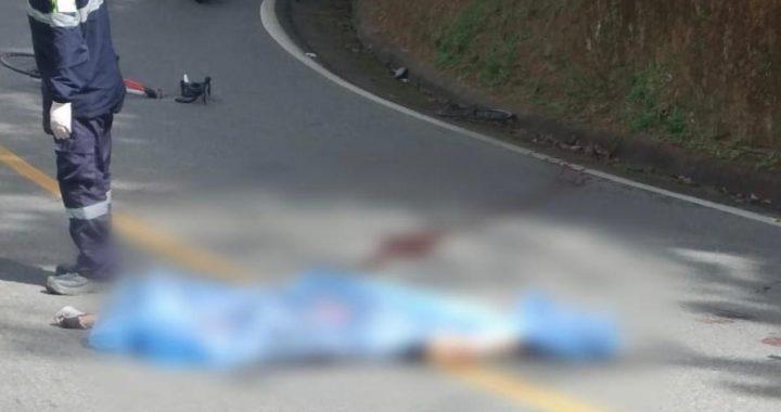 Tras colisionar contra una camioneta, falleció un ciclista en la vía a Don Diego