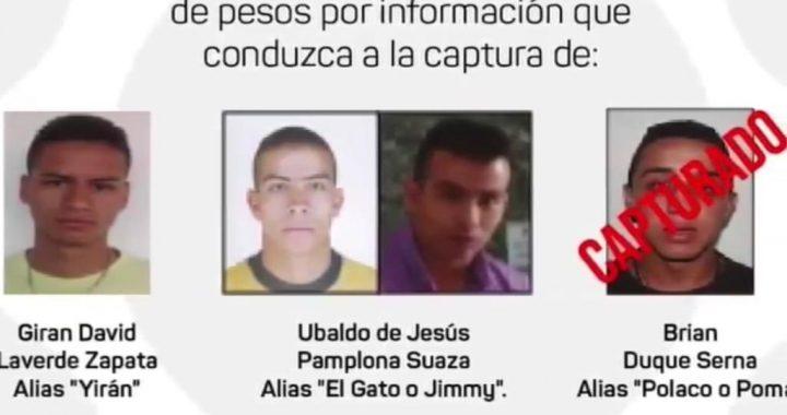 Autoridades de Rionegro ofrecen hasta 30 millones de pesos por información  que lleve a la captura de los más buscados