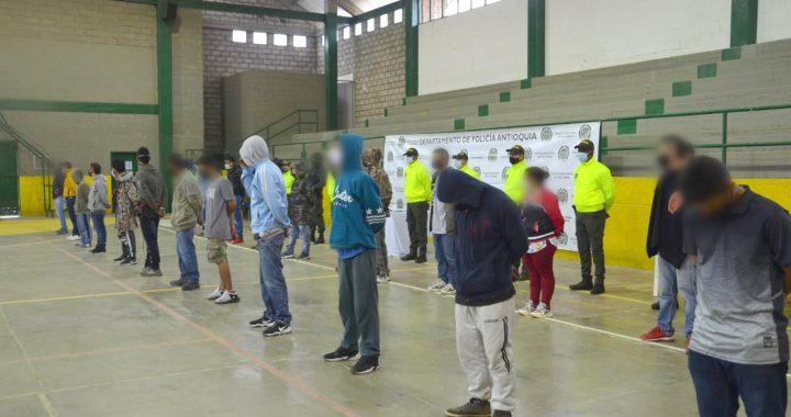 En El Retiro capturaron 29 integrantes de una banda dedicada al microtráfico de estupefacientes