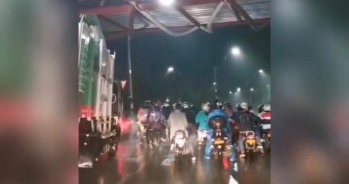 Caravana de motociclistas causó caos en la movilidad y polémica en Rionegro