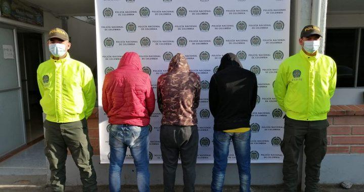 Capturados en Bogotá tres integrantes de grupo delincuencial que hurtaba en el Oriente Antioqueño