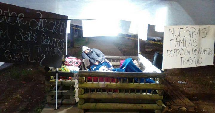 Protestan venteros ambulantes del Parque Lineal La Pereira