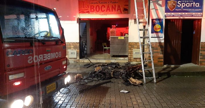 Ya fue controlado incendio que se presentó en reconocido local de comidas rápidas de La Ceja
