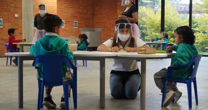 CDI El Porvenir en Rionegro comenzó modelo de alternancia con 55 niños